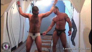 Kinky BDSM gay scene with spanking gay porn